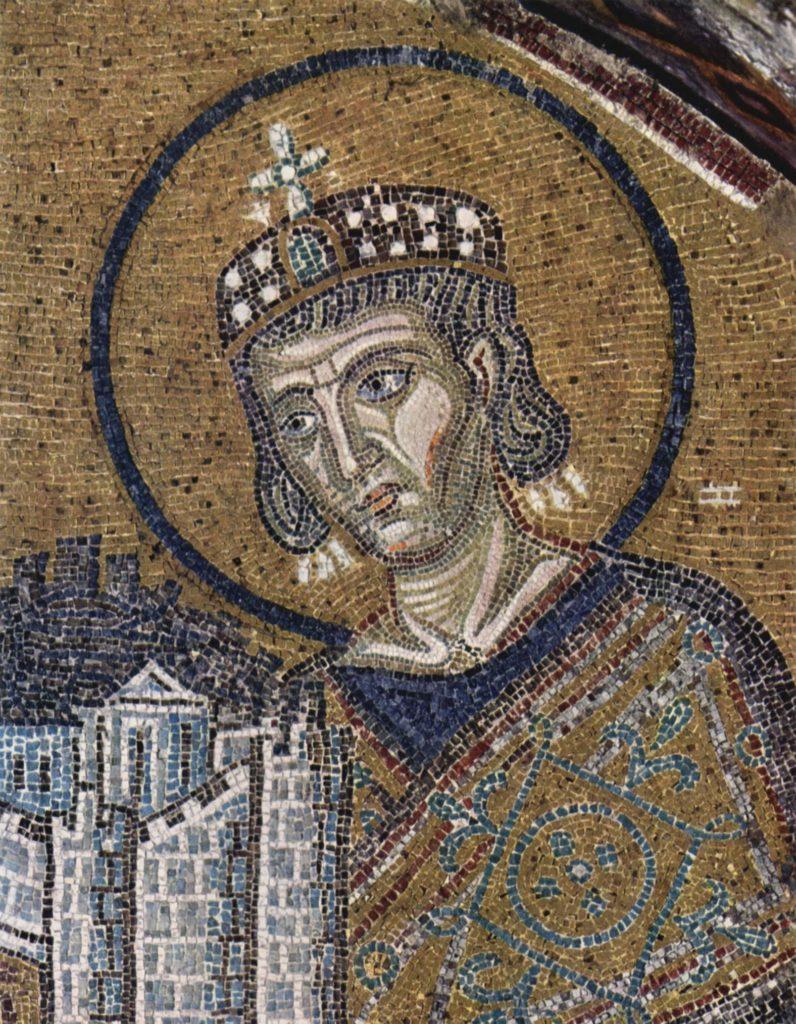 罗马皇帝君士坦丁,拜占庭风格马赛克