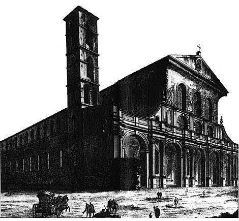 大火毁坏前的圣保禄大殿