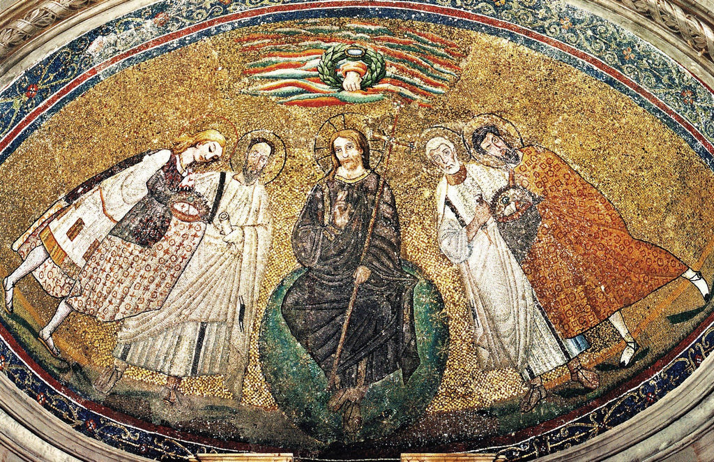 六世纪的彩石镶嵌画