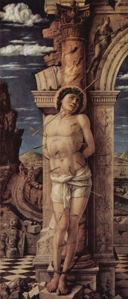 圣巴斯弟盎殉道,孟特尼那(Andrea Mantegna)绘。