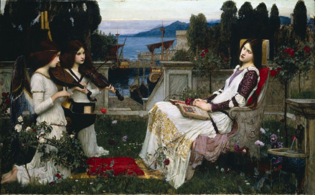 Waterhouse,_John_William_-_Saint_Cecilia_-_1895