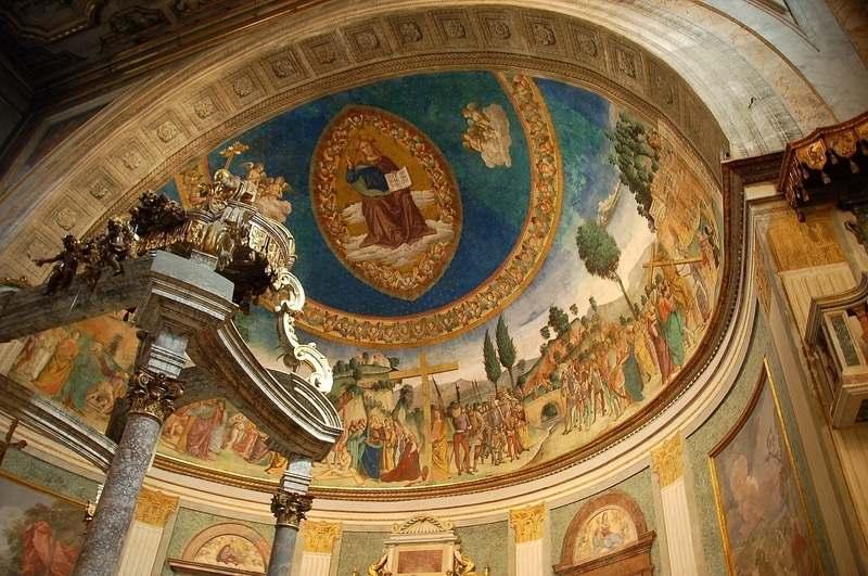 """圣海伦寻获十字架""""真木""""的壁画"""