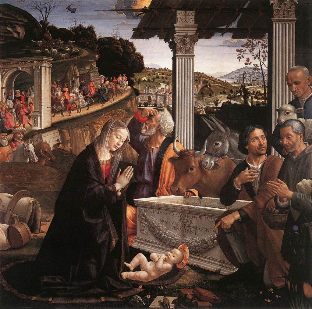 《牧人朝拜》,文艺复兴画家多米尼哥·基兰达奥,