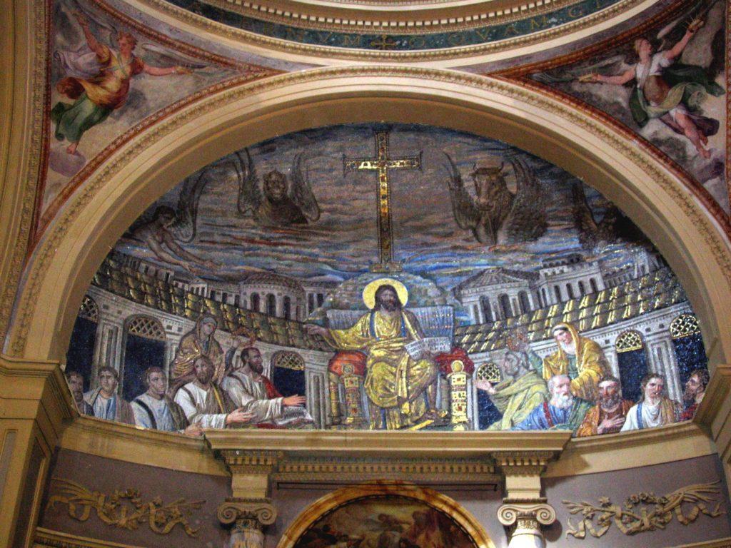 Apsis_mosaic,_Santa_Pudenziana,_Rome_photo_Sixtus_enhanced_TTaylor