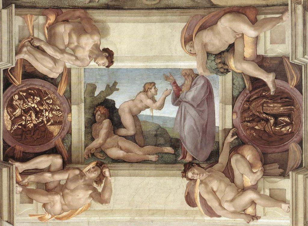 《天主创造厄娃》,米开朗基罗,梵蒂冈西斯汀小堂