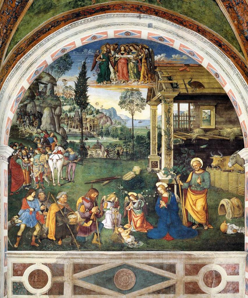 Spello_ChSMMaggiore_Pinturicchio_NativitaGesù+AdorazionePastori_1500-1501